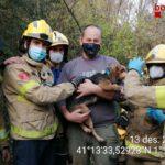Rescatat un gos que havia caigut en un pou a Vilallonga