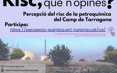Impulsen des de la URV una enquesta ciutadana per valorar la percepció de risc petroquímic al Camp de Tarragona