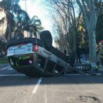 El conductor del vehicle bolcat a l'avinguda de Salou de Reus dona positiu en alcoholèmia