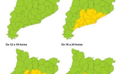 Activada l'alerta del pla Ventcat per la previsió de forts vents divendres al prelitoral central