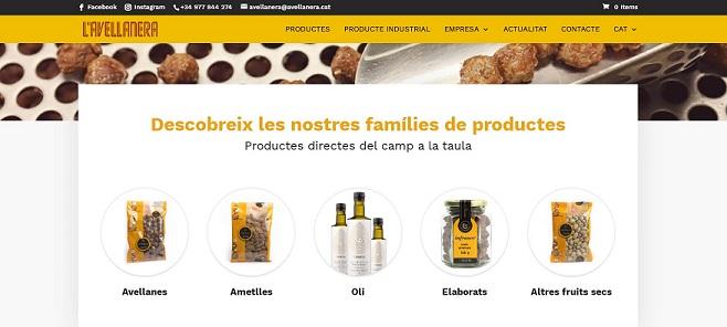 L'Avellanera selvatana actualitza la seva pàgina web i el seu servei de venda on-line