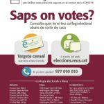 Quan l'important és saber què votes… i on: 50.000 electors de Reus canviaran de col·legi electoral el 14-F