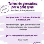 Acció Social reprèn a Torredembarra els tallers gratuïts de gimnàstica