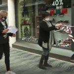 Botiguers de Cambrils aixequen la persiana per exigir la reobertura els caps de setmana