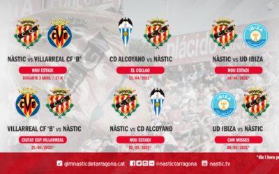 El Nàstic ja coneix el calendari de la segona fase de la lliga