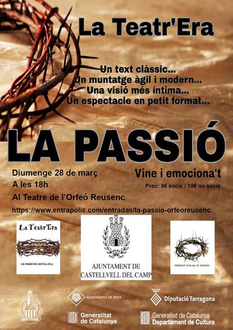 'La Passió' es representarà al teatre de l'Orfeó Reusenc