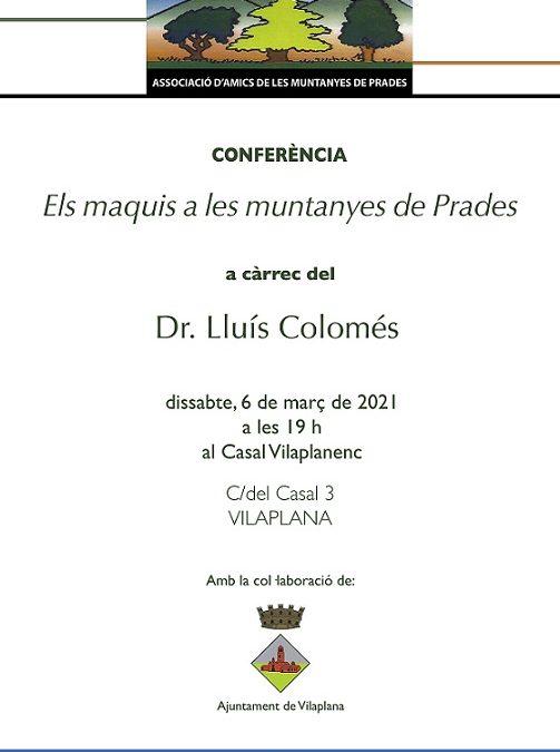 Gairebé 70 persones inscrites a la conferència 'Els maquis a les Muntanyes de Prades'