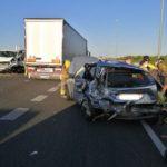 Un accident entre tres camions i un turisme a Vinyols i els Arcs causa quatre ferits