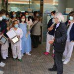 Els usuaris d'Horts de Miró del barri Sant Josep Obrer de Reus homenatgen les seves metgesses i infermeres