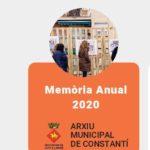 Es publica la memòria anual de l'Arxiu Municipal de Constantí