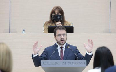 El Parlament tomba la primera votació de la investidura d'Aragonès per l'abstenció de Junts