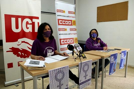 UGT i CCOO criden a manifestar-se el 8-M a Tarragona i denuncien la «criminalització» del moviment feminista