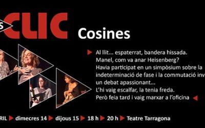 TeclaSmit portarà 'Cosines', de Sergi Xirinacs, al Teatre Tarragona en doble funció diària