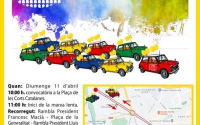 La Plataforma d'Interins/es organitza diumenge a Barcelona, Tarragona i Girona caravanes de cotxes per reclamar #FijezaYA