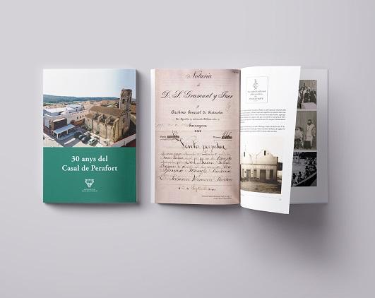L'Ajuntament de Perafort edita un llibre sobre la història del Casal municipal amb motiu de Sant Jordi
