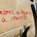 Sant Jordi deixa un 'Ganes de tornar-te a veure' al mur del Castell de Vila-seca