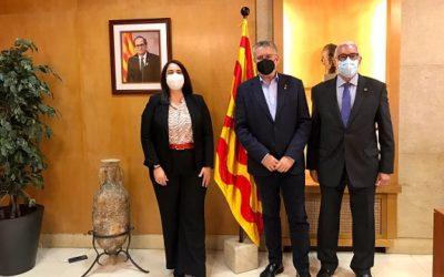 La degana de l'ICAT, Estela Martín, fa una visita institucional a l'alcalde de Tarragona