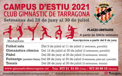 Torna el Campus d'Estiu del Club Gimnàstic 2021