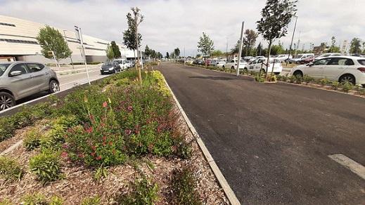 Acaben les obres que completen la jardineria i la pavimentació de l'avinguda de Josep Laporte