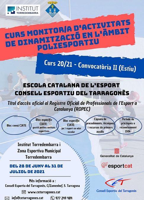 Convocatòria d'estiu del Curs de Monitors/es Poliesportius a Torredembarra
