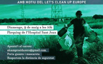 Crida a netejar els voltants de l'Hospital Sant Joan aquest diumenge