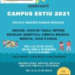 S'obren les inscripcions per al Campus d'Estiu 2021 a Constantí en el marc del Pla Educatiu d'Entorn