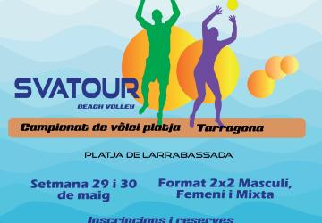 La platja de l'Arrabassada acollirà la segona prova del circuit de Volei Platja Svatour 2021