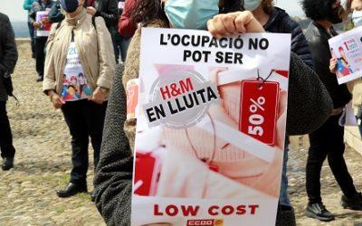 CCOO i UGT també convoquen mobilitzacions el 6 i el 7 de maig a Barcelona, Tarragona i Lleida contra l'ERO 'salvatge' d'H&M