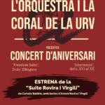 L'Orquestra i la Coral de la URV celebren l'aniversari amb l'estrena d'una suite amb textos de Rovira i Virgili