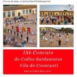 Arriba la IX edició del Concurs de Sardanes Vila de Constantí