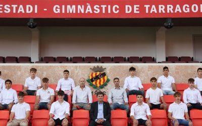 El Nàstic homenatja els joves futbolistes amb 10 temporades defensant l'escut