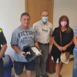 Acte de reconeixement a Creixell per la jubilació del caporal de la Policia Local Carlos Albertos Fatsini
