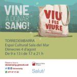 Campanya de donació de sang el proper 4 d'agost a Torredembarra