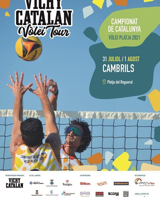 Cambrilsacollirà de nou una prova del Campionatde Catalunya de Vòlei Platja 2021