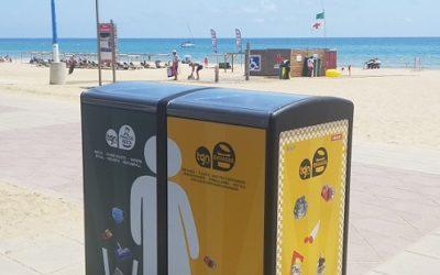 L'Ajuntament instal·la dues papereres compactadores a la platja de l'Arrabassada