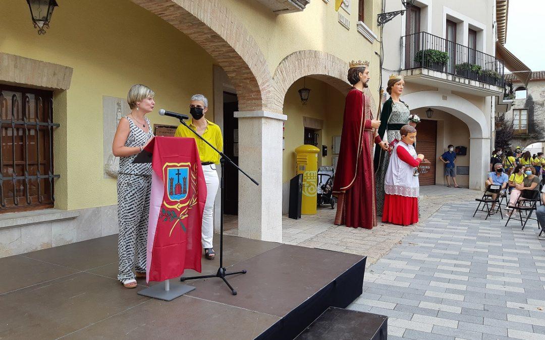 La presidenta de la Diputació dona el tret de sortida a la Festa Major de Vilallonga del Camp