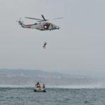 Exercici de salvament marítim, aquest matí a la platja de Torredembarra