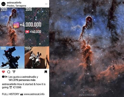 Una imatge capturada des de Prades es fa viral a les xarxes, amb 4 milions de visites a Instagram en 7 dies