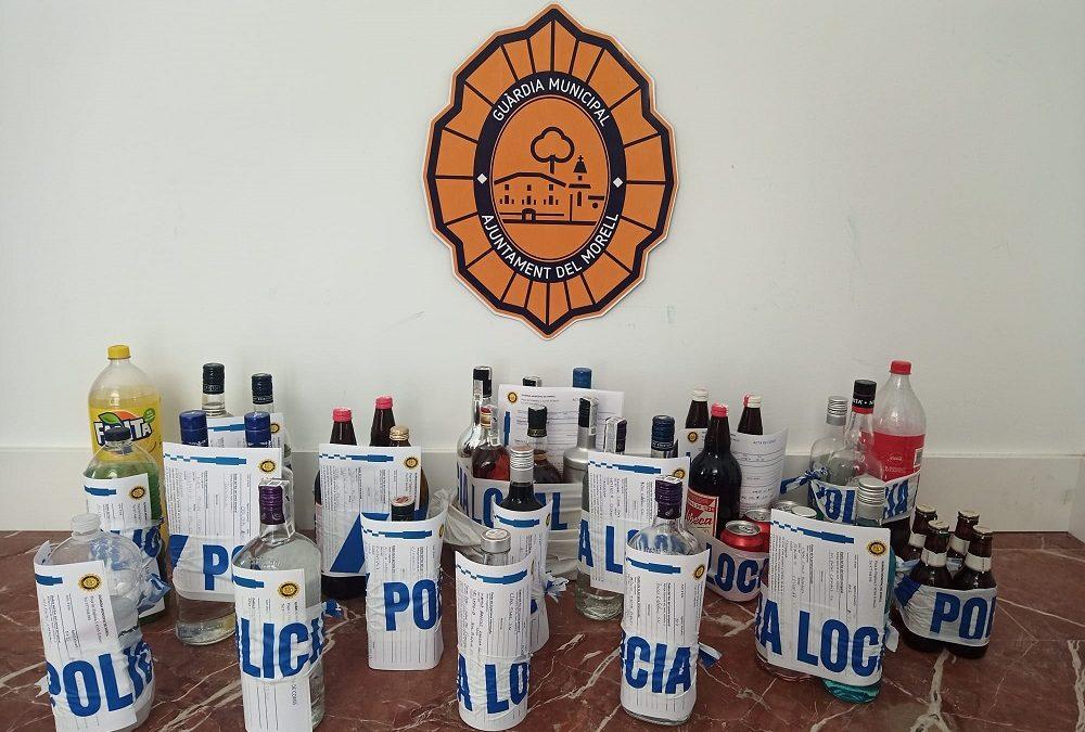 La Guàrdia Municipal del Morell denuncia 35 persones en una operació contra un botellot massiu
