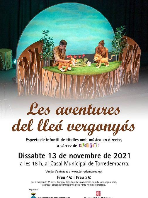 'Les aventures del lleó vergonyós', del Pot Petit, arriba el 13 de novembre a Torredembarra