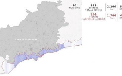 Suspeses un any les llicències d'edificació en 30 municipis costaners amb el potencial de construir 70.000 habitatges