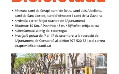S'obren les inscripcions per a la Bicicletada Popular del 19 de setembre a Constantí