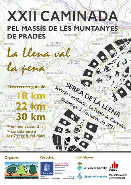 La caminada pel Massís de les Muntanyes de Prades arriba a la XXIIa edició
