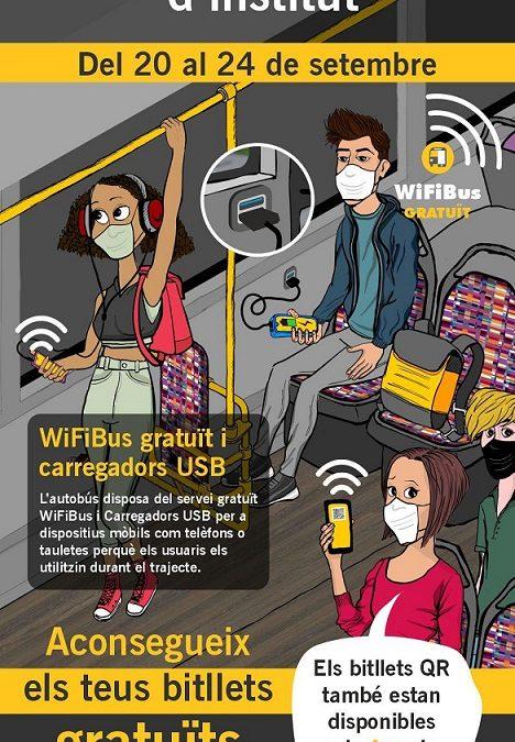 Bus gratuït a Reus durant una setmana per promocionar l'ús del transport públic entre els 8.000 alumnes d'institut