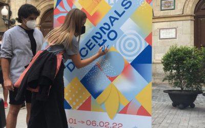Llum, festa i patrimoni es donen la mà en la imatge gràfica i el cartell de les Decennals 2021+1 de Valls