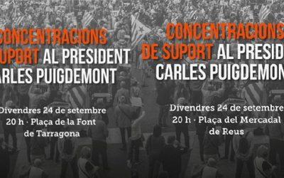 Convocades concentracions a les 20:00 hores davant els ajuntaments en suport de Puigdemont