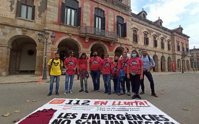 Els treballadors del 112 deixen clar al Parlament que no pensen desconvocar la vaga