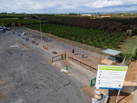La Pobla incorpora un circuit d'agility per millorar el Parc dels Gossos