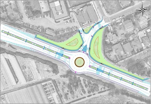 Una rotonda a l'accés de Mas Carpa reduirà el risc en la incorporació de vehicles a la urbanització
