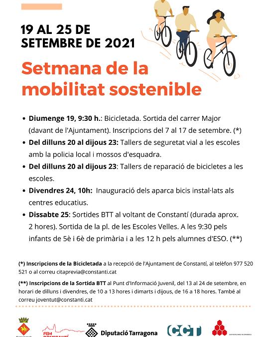 Constantí participarà de la Setmana Europea de la Mobilitat Sostenible